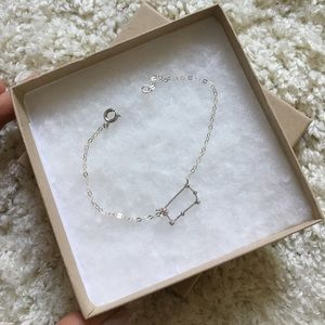 sterling silver gemini constellation bracelet